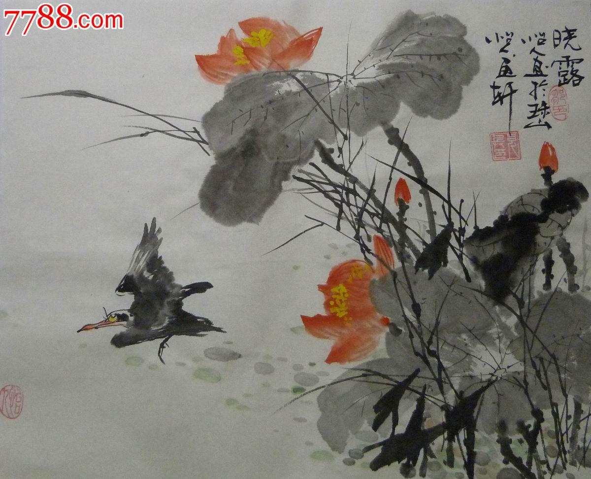中国画写意花鸟画中国画-中国画写意