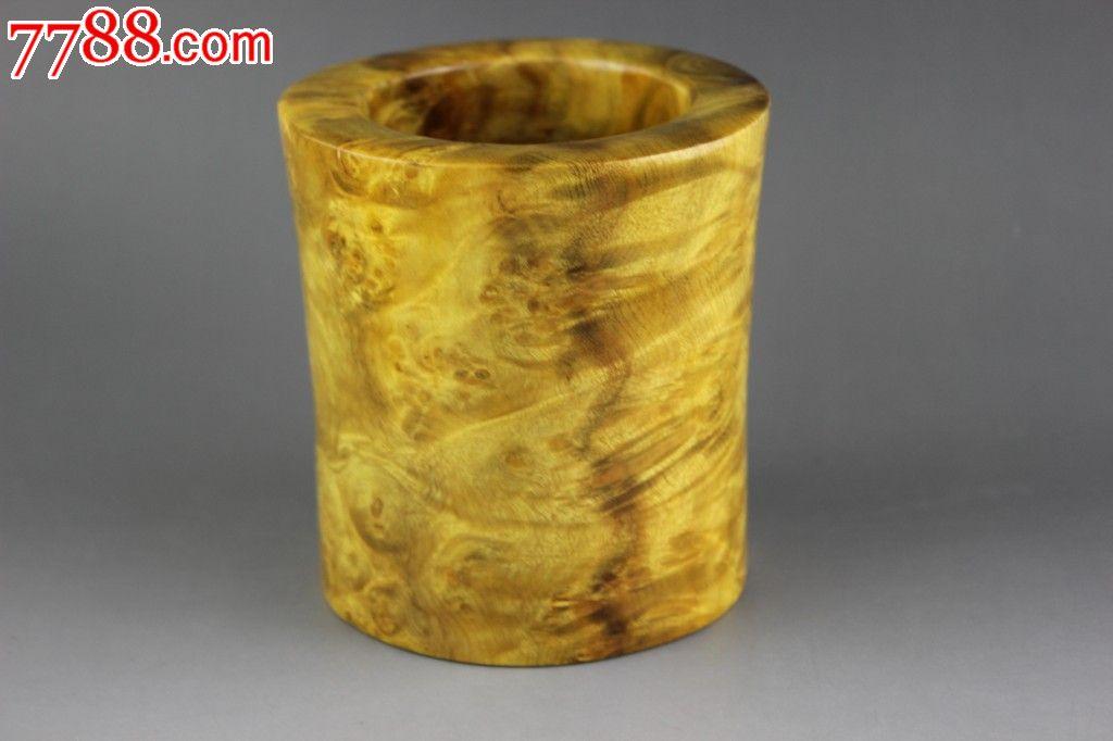 【金丝楠木水波纹鬼脸瘤疤笔筒】纹理极美木质细腻珍藏绝品