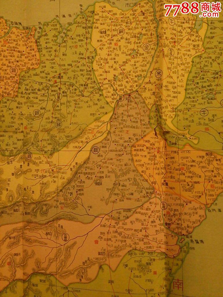1950年海南岛地图,琼崖行政地图