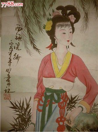 字画111,古代四美图,画的很好-se23815722-人物国画原
