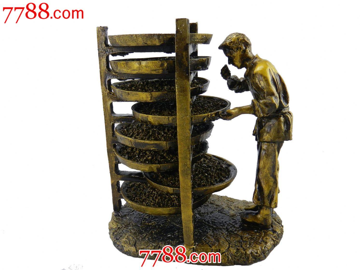 铁观音制作八大工艺雕塑工艺品摆件制茶八件套