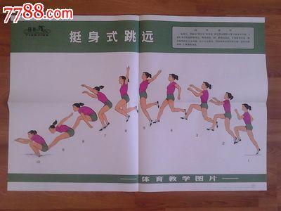 《体育教学图片-跳远》_教学挂图_仁者收藏【