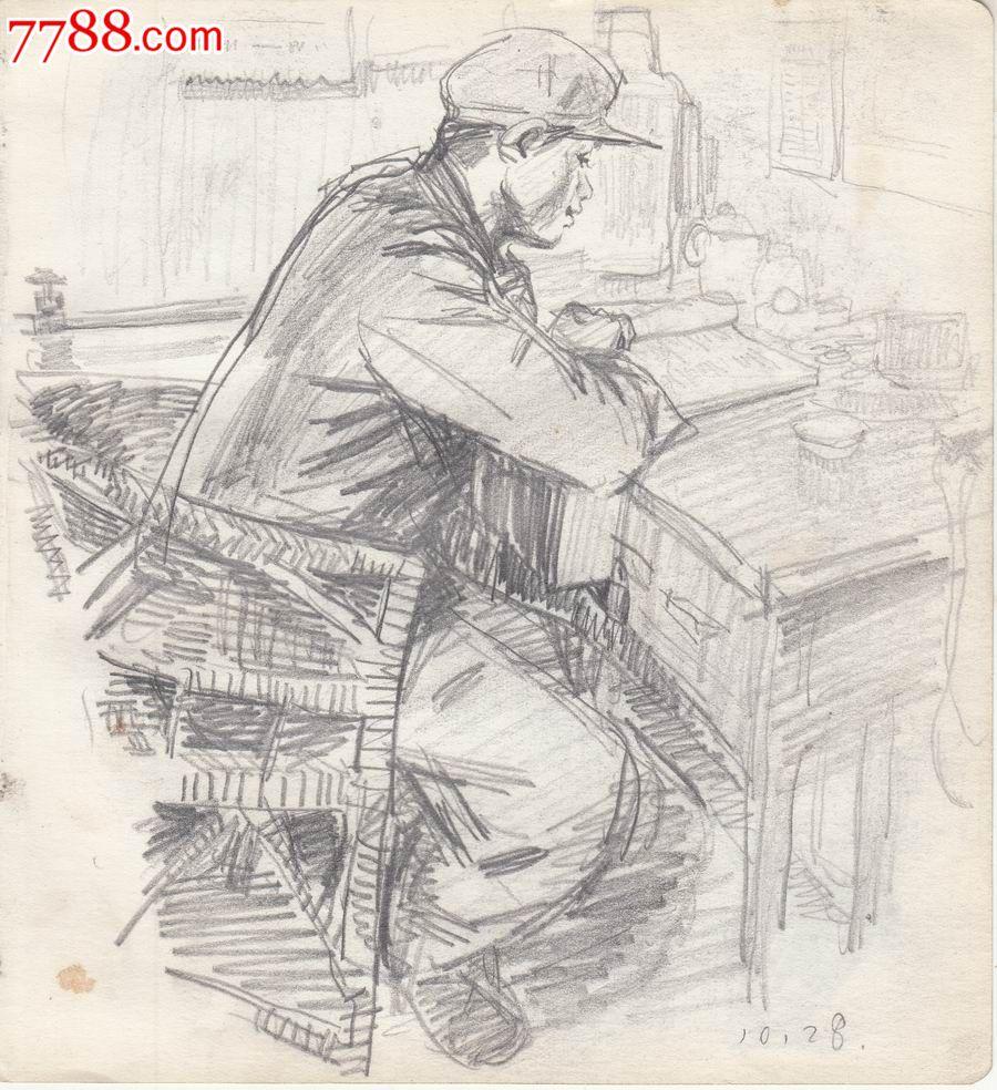 【画家原美院学生·素描·原画稿】学习·70年代