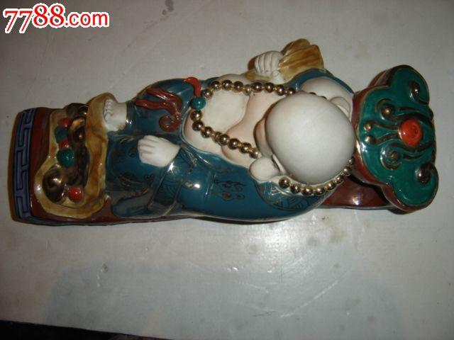 景德镇雕塑瓷厂高级工艺美术师刘祖胜陶瓷雕塑作品--人生如意