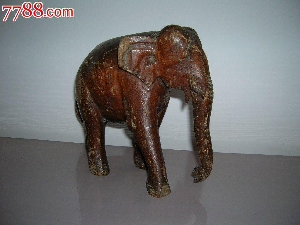 民国至解放初期木雕大象