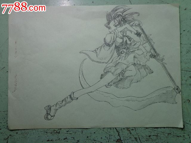 动漫人物铅笔画_价格28.0000元_第1张_7788收藏__中国收藏热线