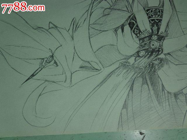 动漫人物铅笔画