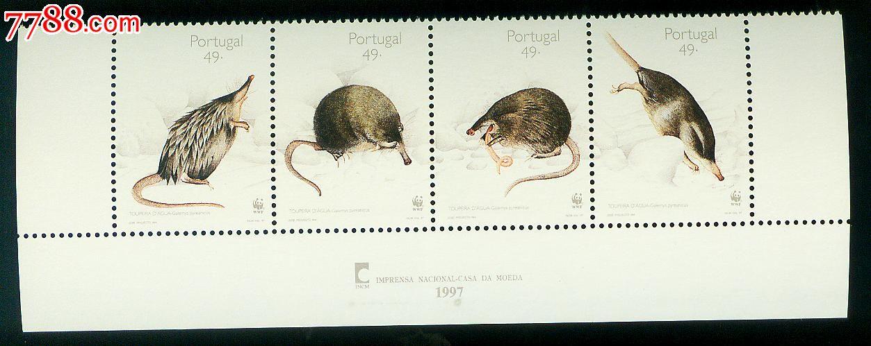 鼠(wwf世界野生动物保护基金会)新票4全