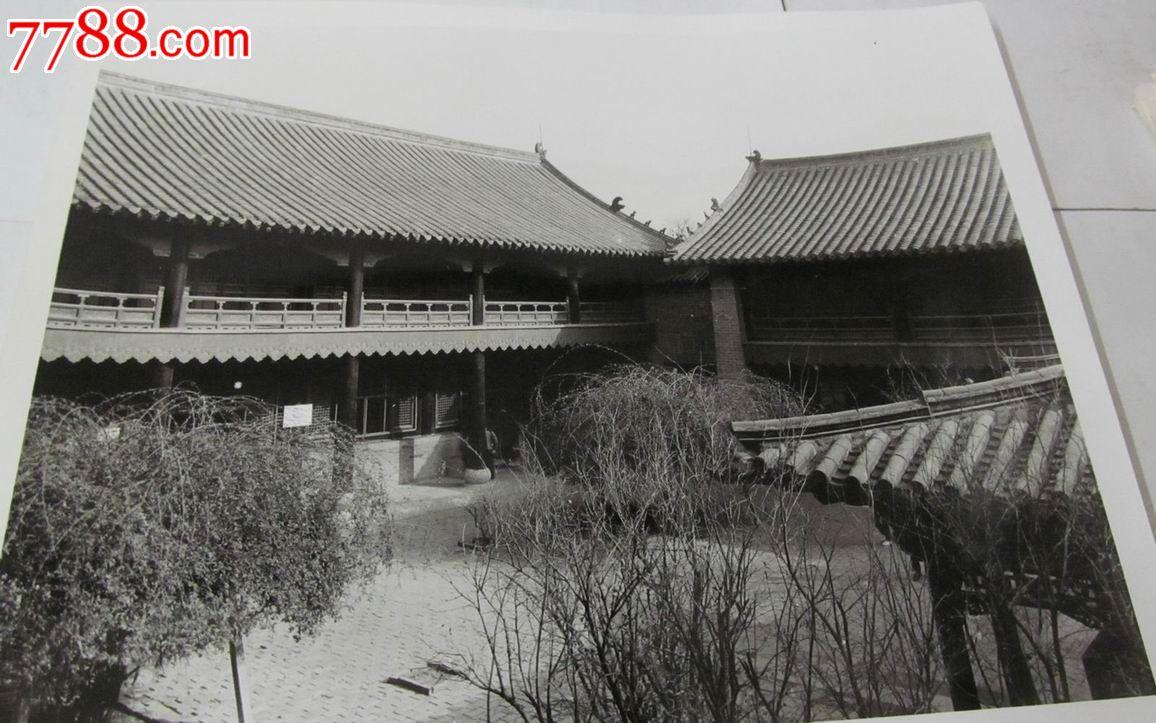 老照片:八十年代风景园林大照片/25*30厘米/2