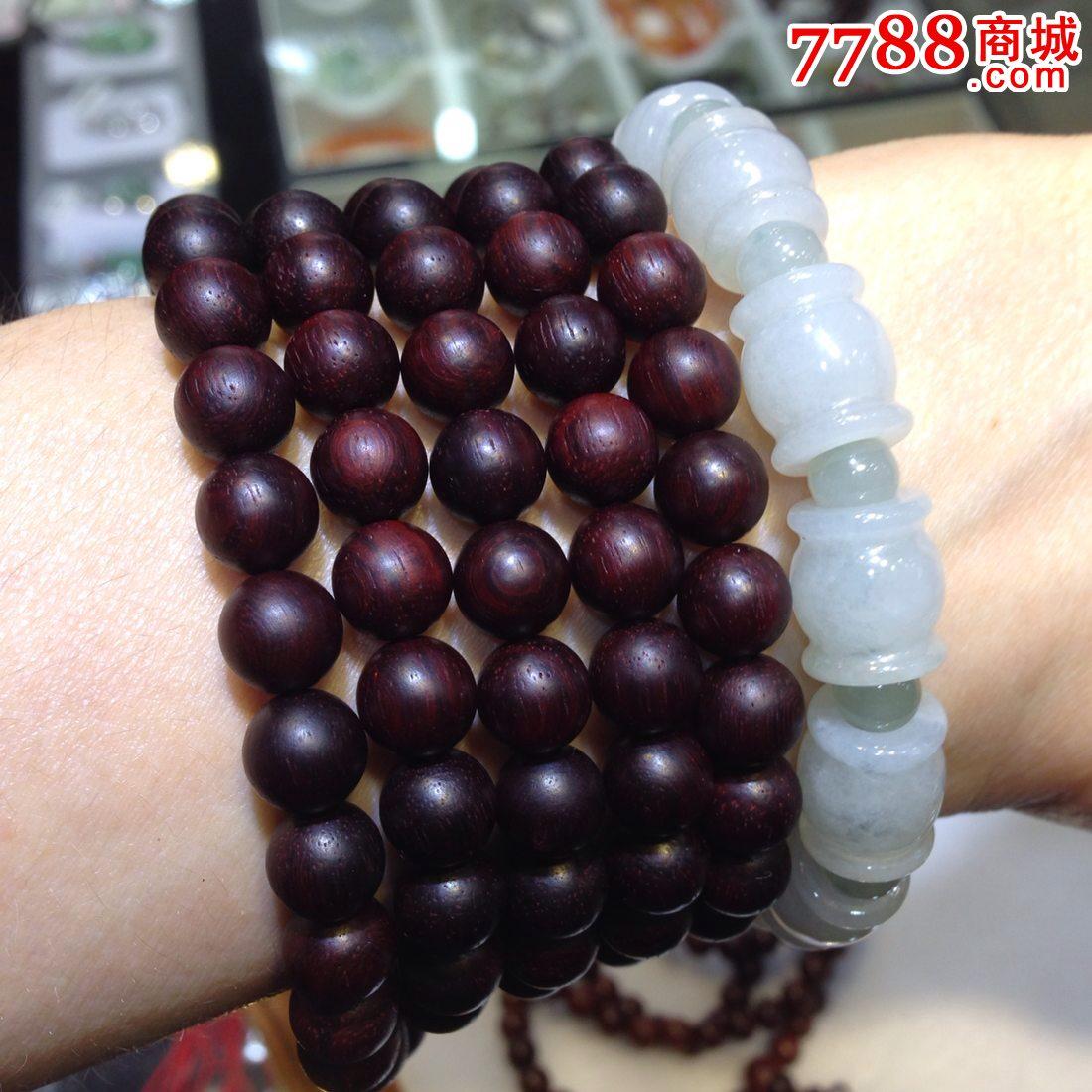 小叶紫檀108颗8毫米佛珠手串