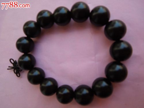 印度黑檀木珠15mm手串