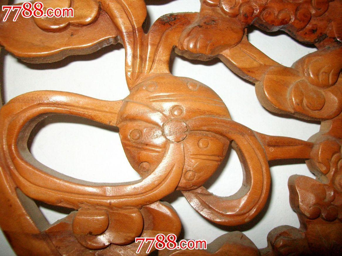 木雕实木狮子挂件