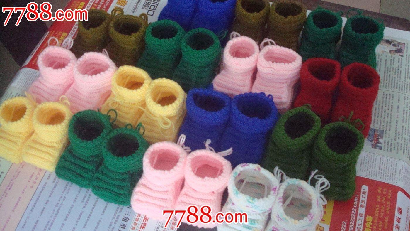 纯手工编织婴儿鞋_价格35元