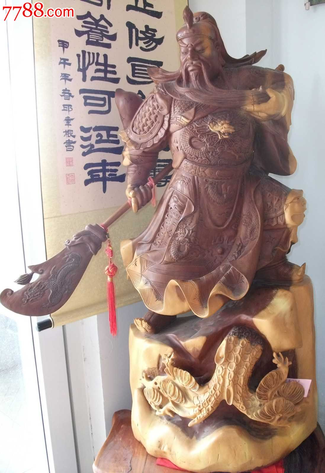 泉州木雕关公图片