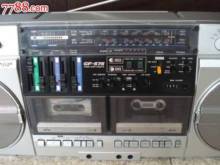 原装夏普gf-575收录机双卡录音机老式录音机夏普575录音机