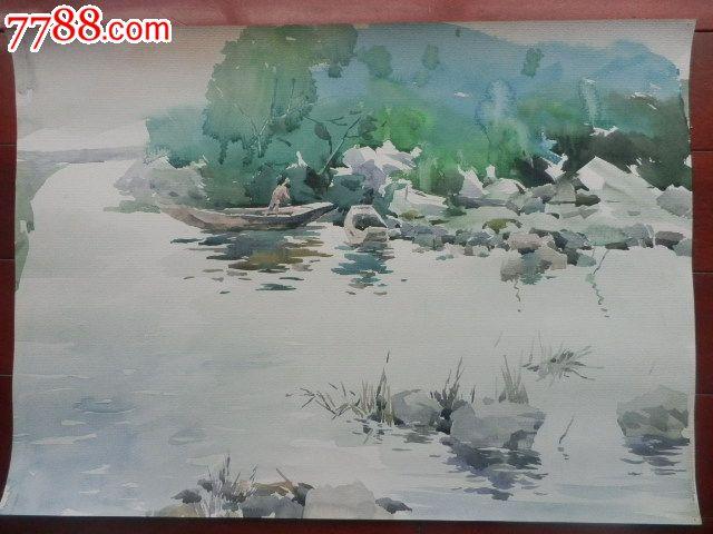 动物风景绘画 彩铅