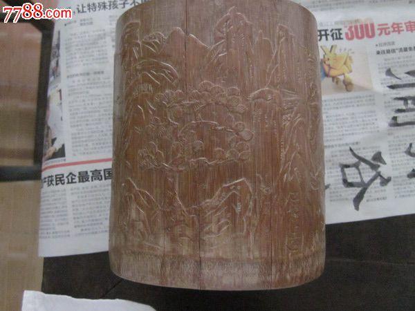 浅浮雕山水雕刻_价格1500元【玉器古玩杂件】