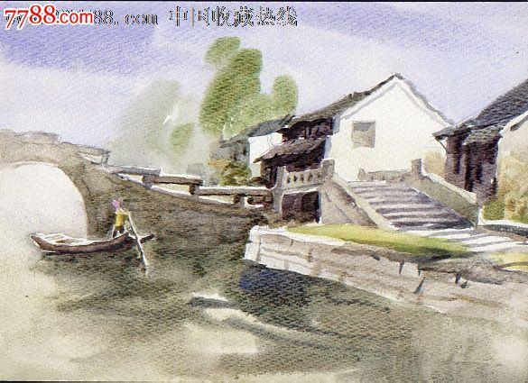 zzz 品种: 水粉/水彩原画-水粉/水彩原画 属性: 水彩原画,,建筑风景