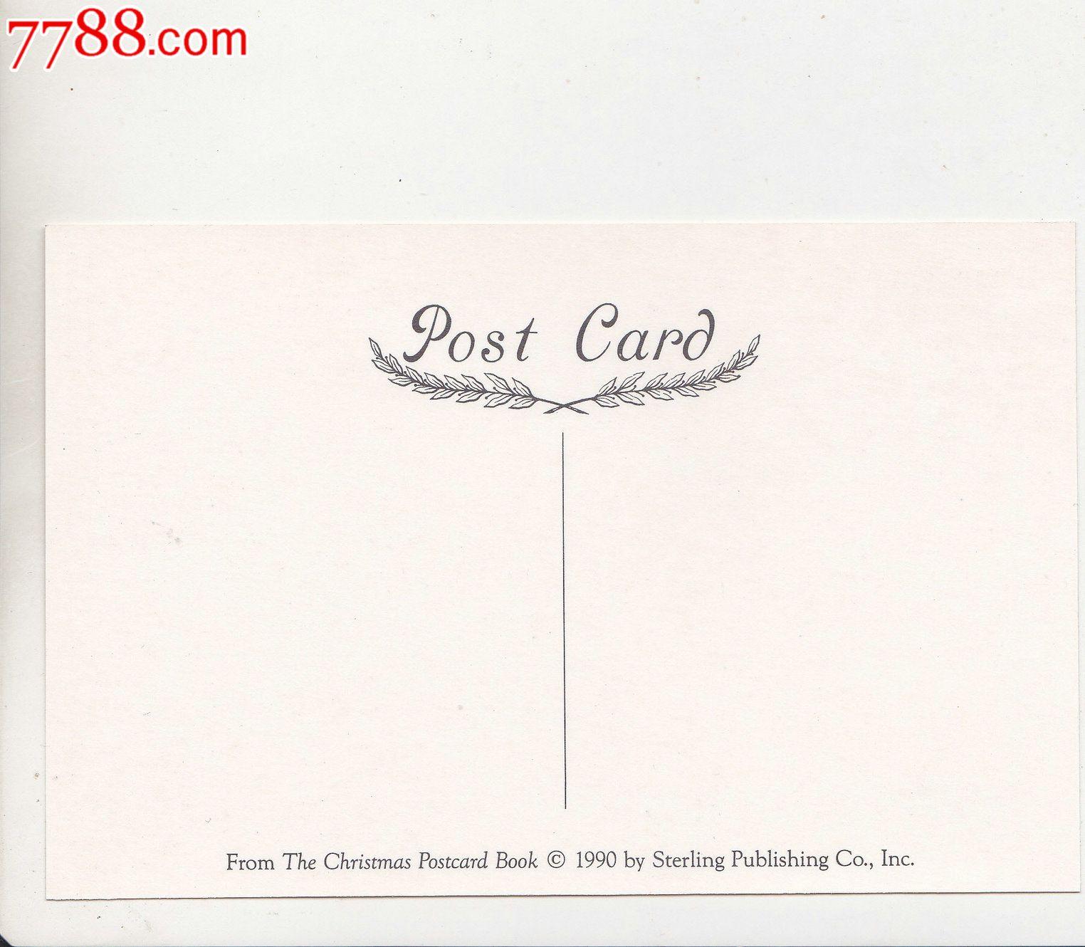 外国原版明信片英国圣诞节卡通