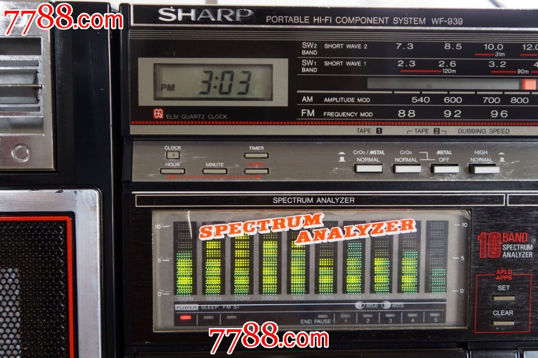 日本原装夏普sharp-939收录机