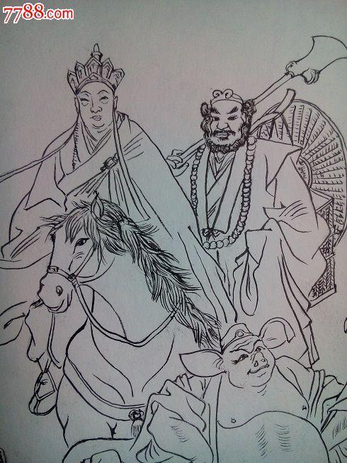 西游记人物-价格:50.0000元-se25002747-人物国画原作