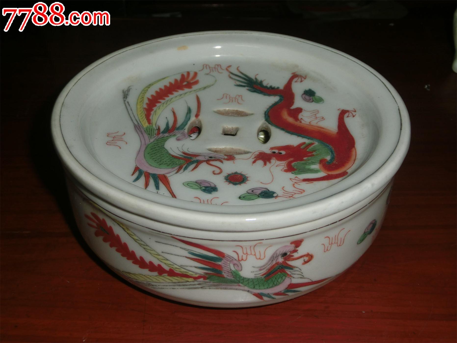 手绘龙凤茶船