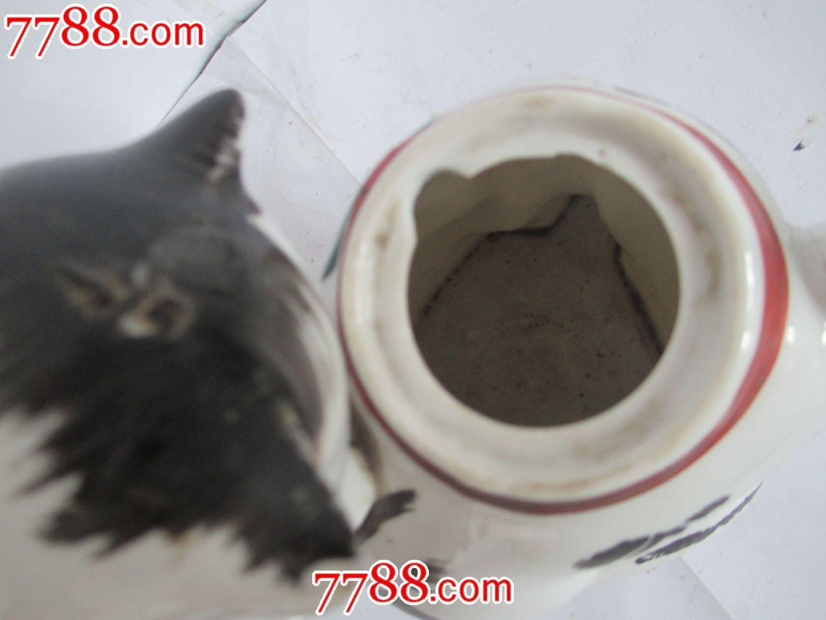 手绘招财猫茶壶-价格:176元-se25140923-单色白瓷