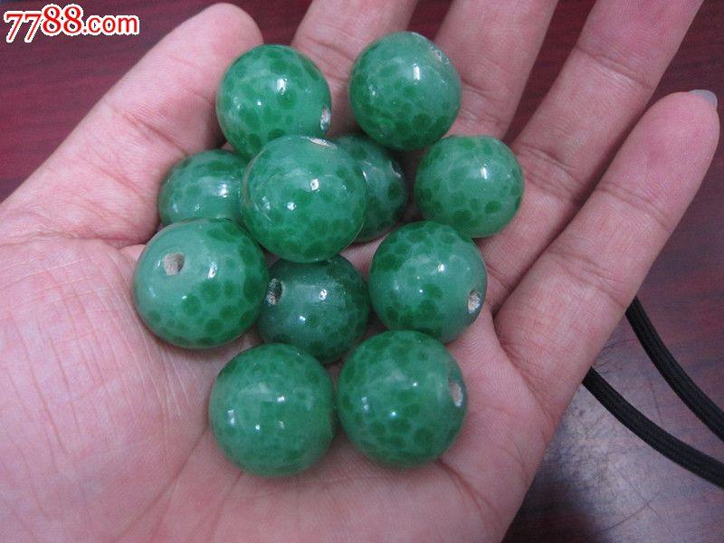 淄博博山琉璃厂出品西瓜绿老琉璃