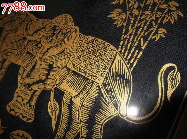 泰国手工刺绣画精美好品包邮