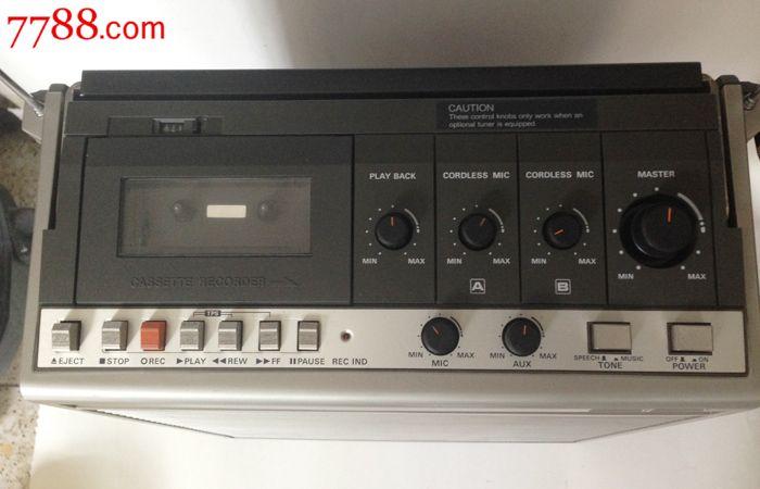 日本松下广场便携式单卡录音机wx-800ac带卡拉ok功适合棒球舞原装棍防身图片