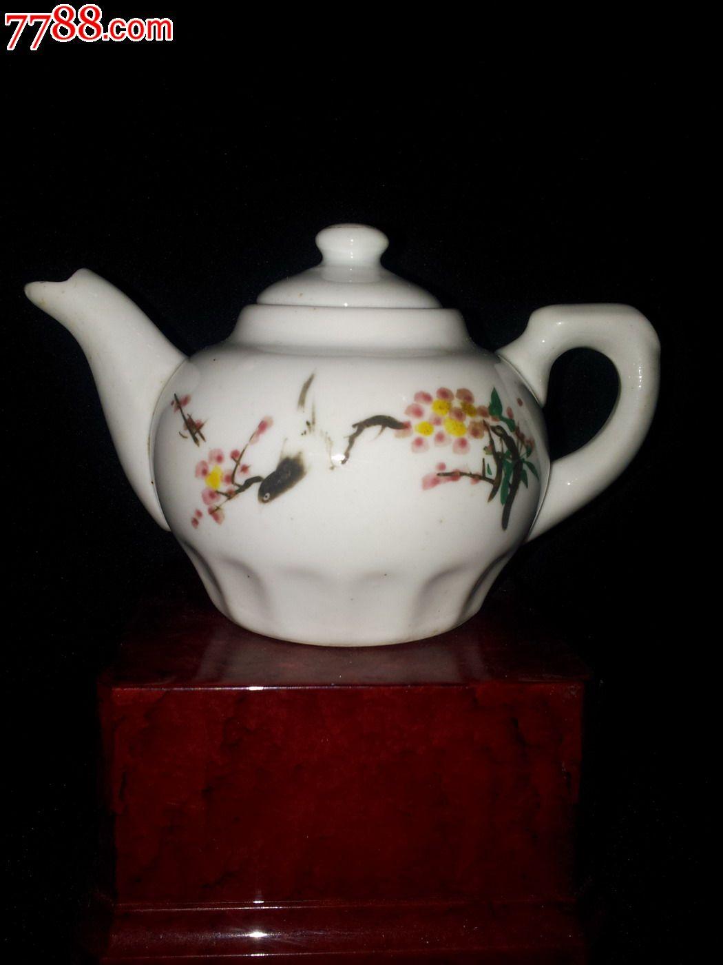 手绘图案茶壶