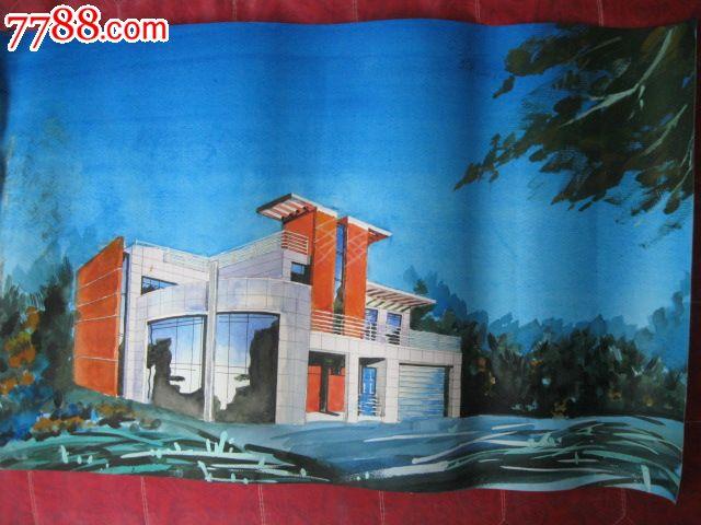 品种: 水粉/水彩原画-水粉/水彩原画 属性: 水彩原画,,建筑风景