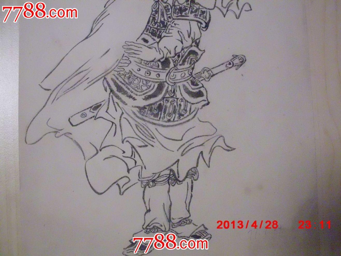 连环画人物草稿---花木兰,铅笔打底稿,钢笔描_议价_第3张_7788收藏