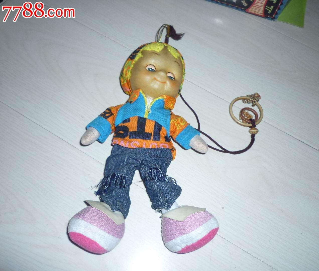 怀旧经典收藏胶皮玩具大头男娃娃