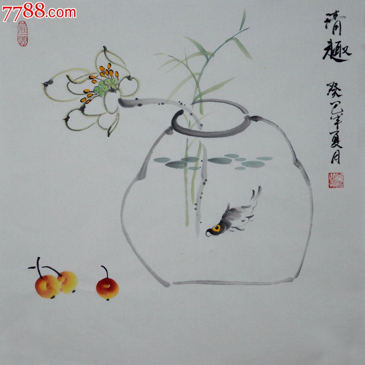 国画写意花鸟画小品HN0505