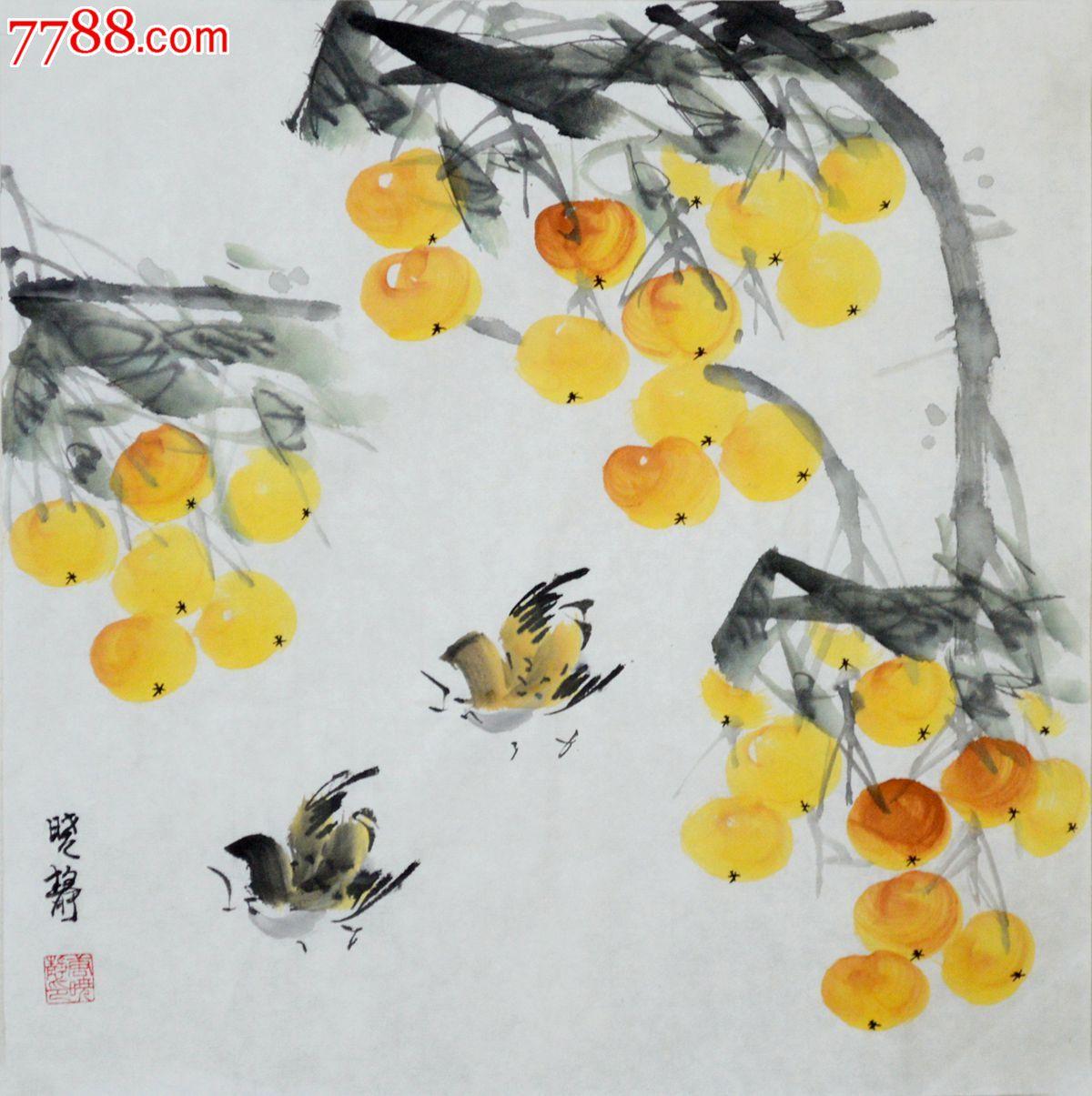 小品花鸟画枇杷-se21459620-花鸟国画原作-零售-7788