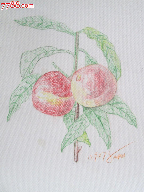 素描彩色鉛筆畫原作8k_價格40.0000元_第1張_7788收藏__收藏熱線圖片